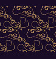 seamless pattern baroque elements and chains vector image vector image