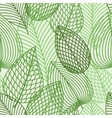 seamless pattern spring outline reen leaves vector image vector image