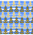 Seamless Pattern with Anchors Sea Background vector image vector image
