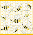 seamless pattern with bees vector image vector image