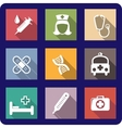 Set of flat medical icons vector image vector image