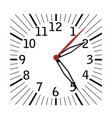 simple black and white clock eighth edition vector image vector image