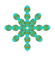 snowflake from items easter egg concept design vector image