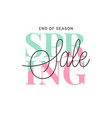spring sale banner vintage spring sign on white vector image vector image