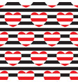 striped seamless pattern with hearts vector image vector image