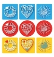Summer typographic logoicons setTemplate vector image vector image