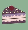 sweet dessert in flat design berry cake vector image