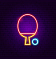table tennis neon sign vector image