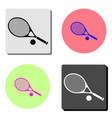 tennis racket and ball flat icon vector image