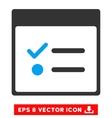 Todo Items Calendar Page Eps Icon vector image vector image