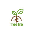 tree life logo design inspiration vector image vector image