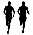 two male runners runnning vector image vector image