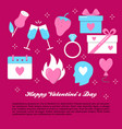 valentines day banner template in flat style vector image vector image