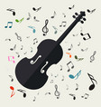 violins with notes music background vector image vector image