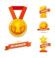 Winner set awards vector image vector image