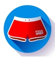 Women sports Beach Shorts icon Flat design vector image vector image