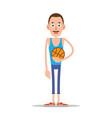 teacher or coach with basketball vector image