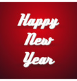 happy new year holidays modern paper like text vector image