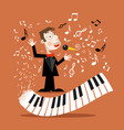 music background with abstract piano keyboard and vector image