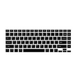 black keyboard for laptop or computer on white vector image
