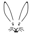 a typical easter bunny face with big ears vector image vector image