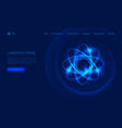 abstract atom from particles light vector image