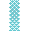 Abstract blue fishscale vertical seamless pattern vector image vector image