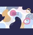 abstract geometric shapes flat design style vector image