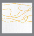 abstract golden or bronze color chain decorative vector image vector image