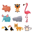 African Animals Fun Cartoon vector image