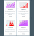 analytics and statistics web vector image