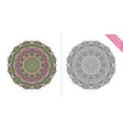 antistress coloring page mandala tenth vector image vector image