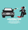 Assassination Shooting From The Car vector image