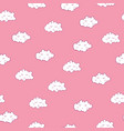 awesome seamless pattern with cute sleeping vector image