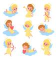 baangels funny kids cupids with wings vector image vector image