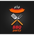 BBQ party invitation poster vector image vector image