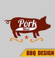 bbq pork meat logo image vector image vector image