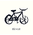 bicycle hand drawn vector image