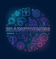brainstorming round outline bright vector image vector image