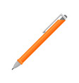 bright orange retractable ballpoint pen vector image
