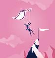 business concept parachuting businessman landing vector image vector image