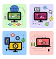 Business processes concept icon set in flat design vector image