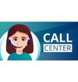 call center concept banner cartoon style vector image vector image