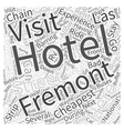 Cheapest Hotels in Las Vegas Word Cloud Concept vector image vector image