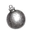 christmas ball hand sketched tre vector image