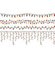 christmas light garlands set colour isolated vector image vector image