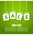 Christmas sale poster template Xmas sale vector image vector image