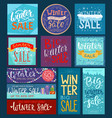 christmas winter sale saleable wintertime vector image vector image