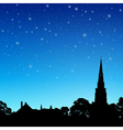 Church Spire with Night Sky vector image vector image
