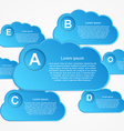 cloud Infographic vector image vector image